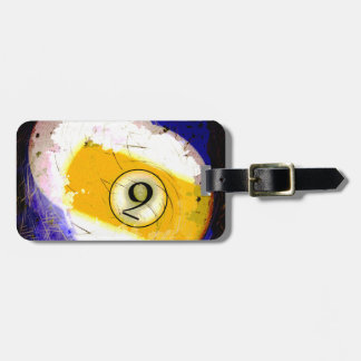BILLIARDS BALL NUMBER 9 LUGGAGE TAG