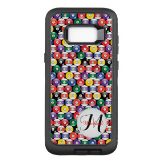 Billiards Ball Pattern - Monogram OtterBox Defender Samsung Galaxy S8+ Case