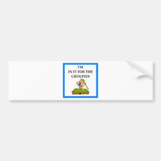 billiards bumper sticker