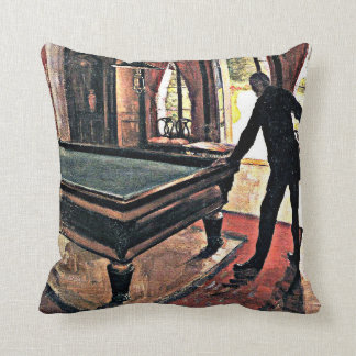 Billiards - Caillebotte, 1876 artwork Cushion