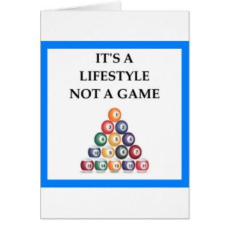 billiards card