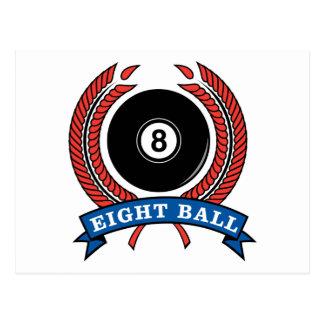 Billiards Eight Ball Postcard