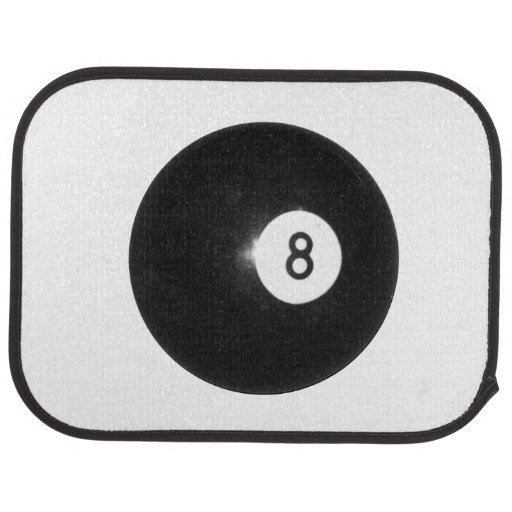 Billiards Eight Ball Floor Mat
