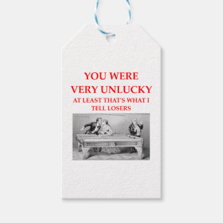 billiards gift tags