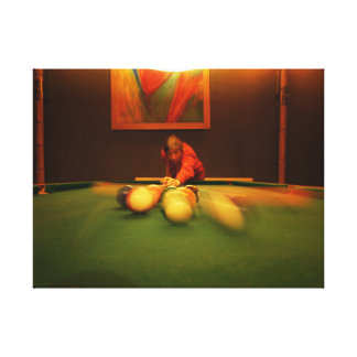 Billiards Player Perspective Canvas Print