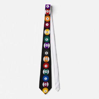 Billiards: Pool Balls: Custom Tie: Necktie