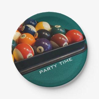 Billiards Pool Balls Paper Plates