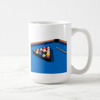 Billiards / Pool Table: Blue Felt: Coffee Mug