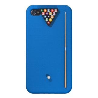 Billiards / Pool Table: Blue Felt: iPhone 4 Cover