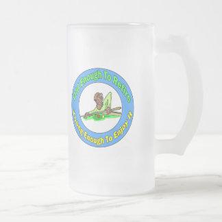 Billiards Retirement 16 Oz Frosted Glass Beer Mug