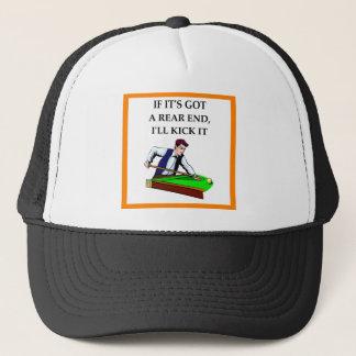 billiards trucker hat