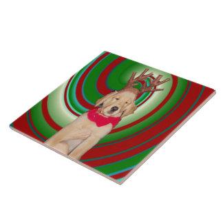 billie-the-golden-reindeer ceramic tile
