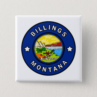 Billings Montana 15 Cm Square Badge