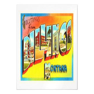 Billings Montana MT Old Vintage Travel Souvenir Magnetic Invitations