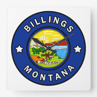 Billings Montana Square Wall Clock