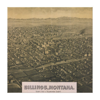 Billings Montana Yellowstone County Map 1904 Canvas Print