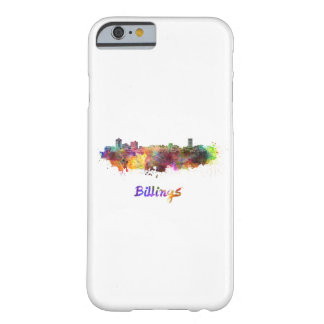 Billings skyline in watercolor barely there iPhone 6 case