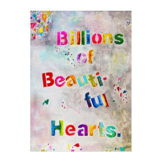 Billions of beautiful hearts painting Plexi Acrylic Print