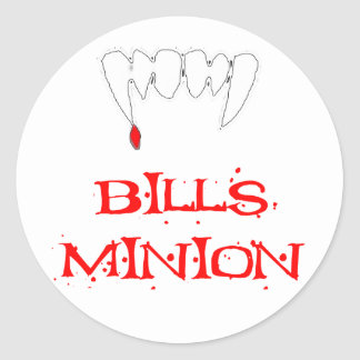 Bills Minion Round Sticker