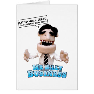 Billy Business Greeting Card