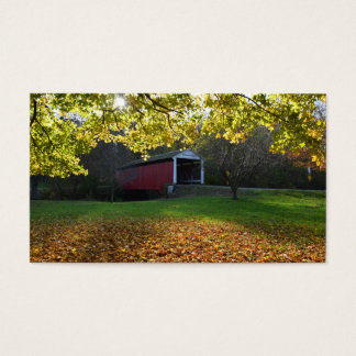 Billy Creek Covered Bridge Rockville Indiana Business Card