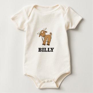 billy goat farm animal baby bodysuit