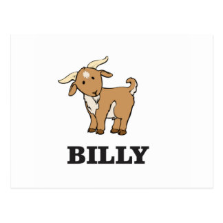 billy goat farm animal postcard