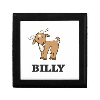 billy goat farm animal small square gift box