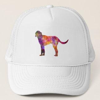 Billy in watercolor trucker hat