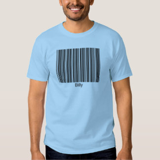 Billy Personalized Functional Barcode Tee