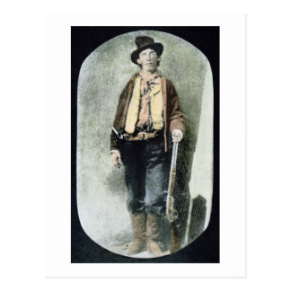 Billy the Kid (coloured engraving) Postcard