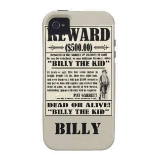 Billy the Kid WANTED Poster iPhone 4/4S  Cover iPhone 4/4S Covers