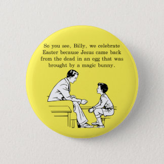 Billy's Easter Lesson 6 Cm Round Badge