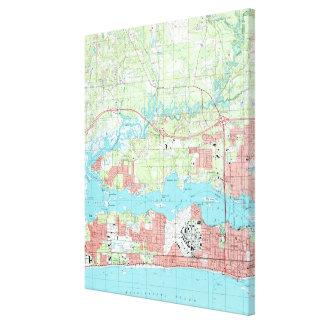 Biloxi Mississippi Map (1992) Canvas Print