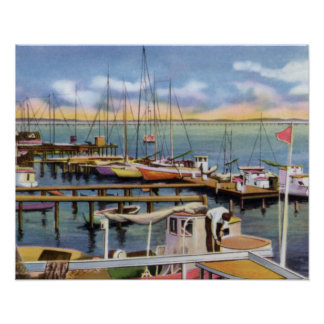 Biloxi Mississippi Shrimp Boats Poster