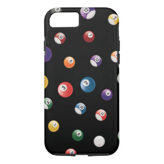 Bilyard Pool Snooker Pattern Black iPhone 8/7 Case