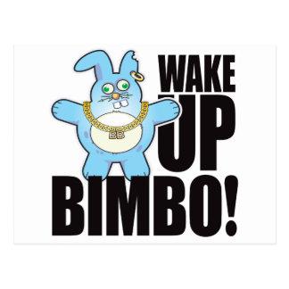 Bimbo Bad Bun Wake Postcard
