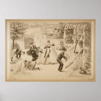 Bimbo of Bombay Vintage Theater Poster