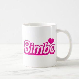 Bimbo pretty little dolly font coffee mug