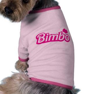 Bimbo pretty little dolly font ringer dog shirt