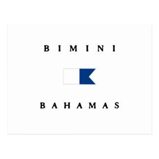 Bimini Bahamas Alpha Dive Flag Postcards