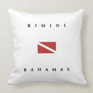 Bimini Bahamas Scuba Dive Flag Pillows