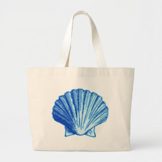 Bimini Blue Sea Shell Large Tote Bag