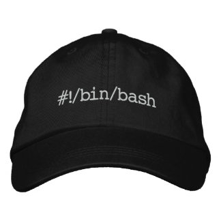 #!/bin/bash embroidered hat