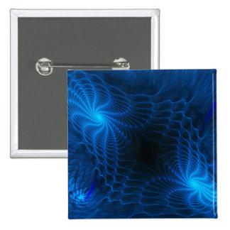 Binarium Abstract Fractal 15 Cm Square Badge