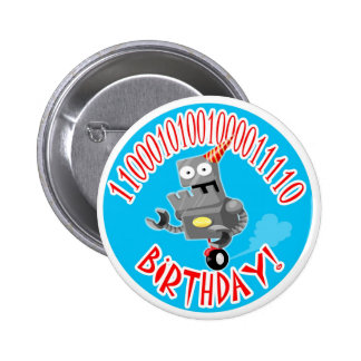Binary Birthday 6 Cm Round Badge