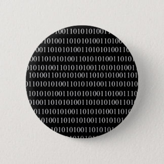 Binary Code 6 Cm Round Badge