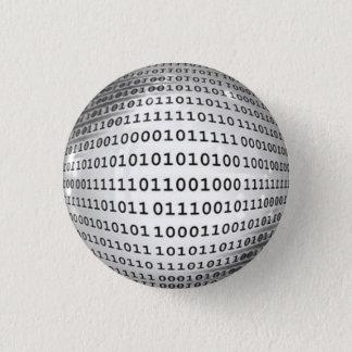 Binary Code Computer Language 3 Cm Round Badge