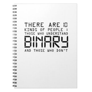 Binary Code Computer Nerd  Software Enginnering Notebooks