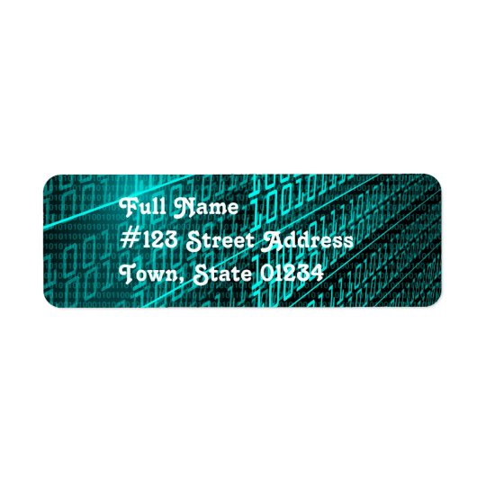 Binary Code Mailing Labels